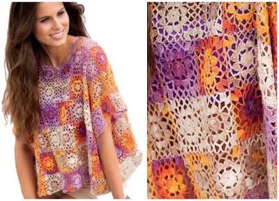 Top motivos cuadrados grannys crochet