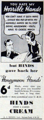 Hinds gave back her Honeymoon Hands