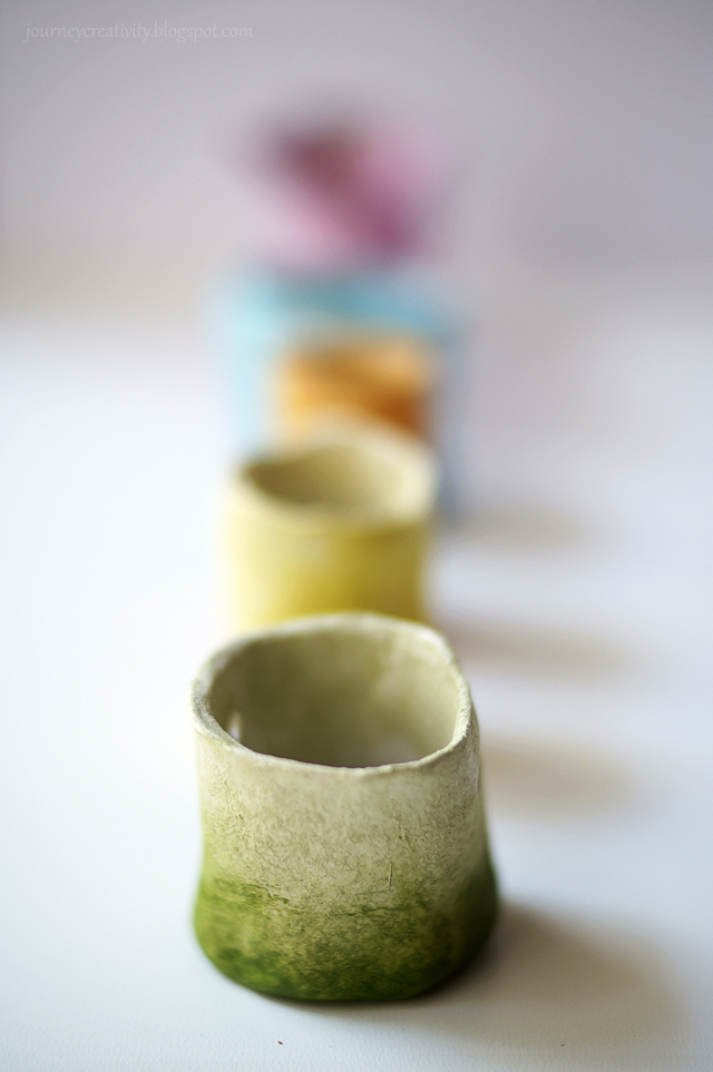 Air dry clay mini pots journey into creativity for Air dry clay crafts