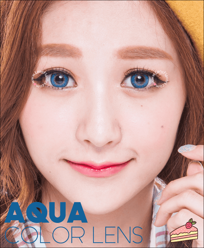 gg shinny aqua colored contacts