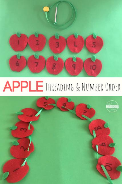 apple-threading-number-order-hands-on-math-activity-preschool-kindergarten
