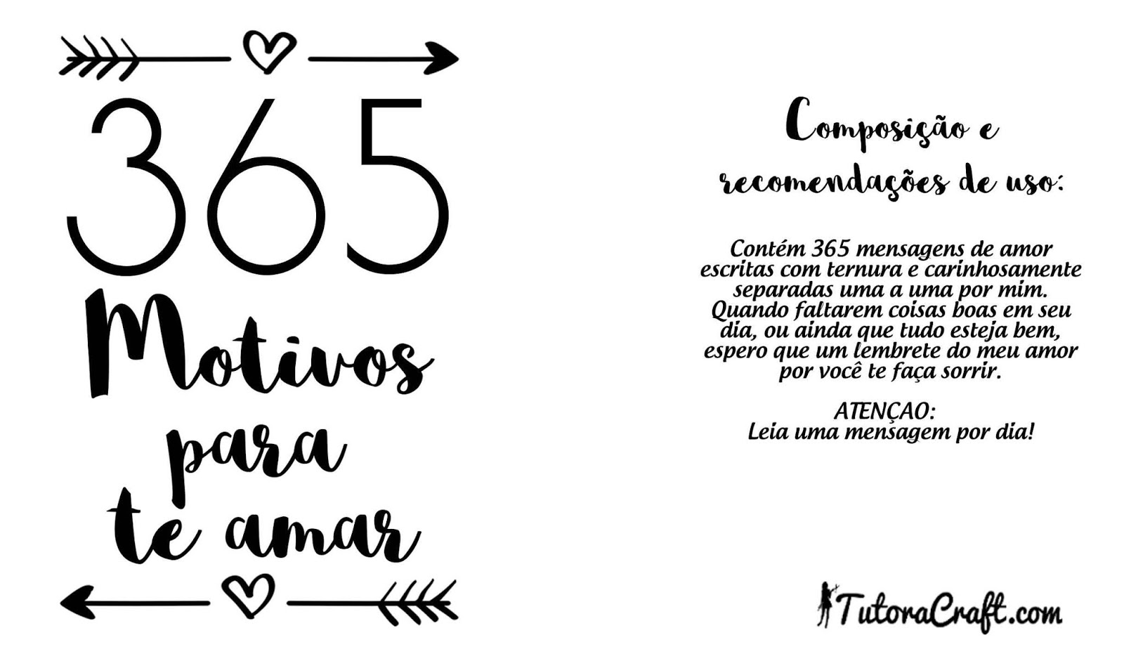 365 Motivos Para Te Amar Para Imprimir