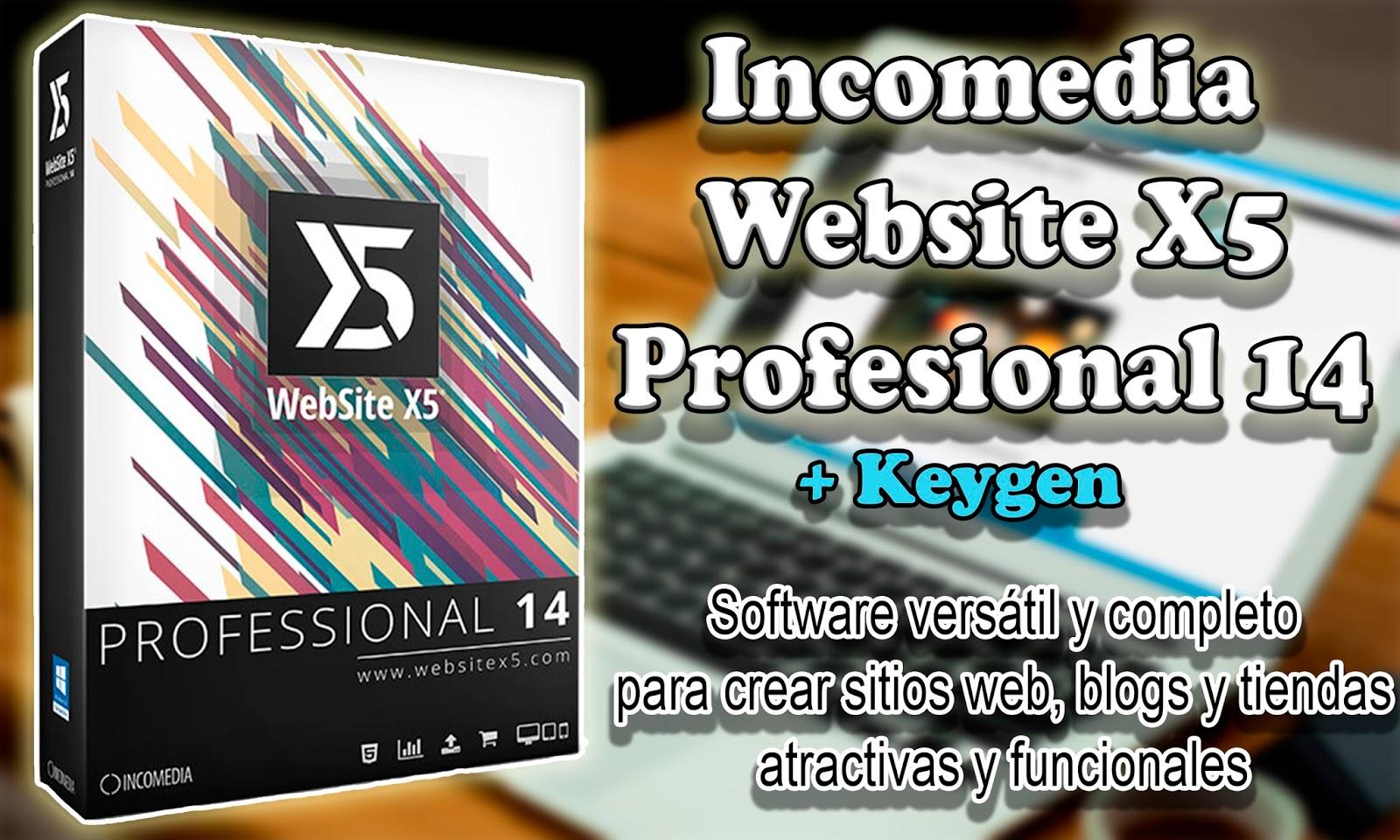 Incomedia WebSite X5 Professional 14.0.5.3   Programas y Utilidades PC