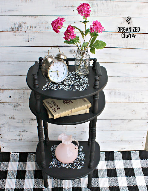 Free Table Upcycle With Dixie Belle Paint in Caviar