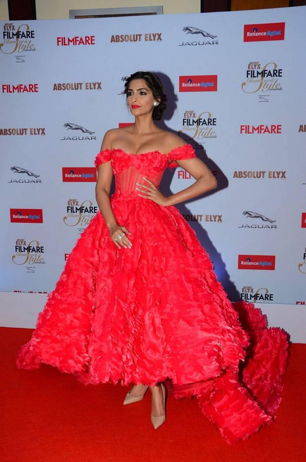 Sonam Kapoor Hot Photos In Red Dress