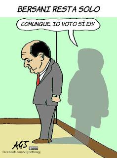 bersani, cuperlo, italicum, leopolda, referendum costituzionale, vignetta, satira