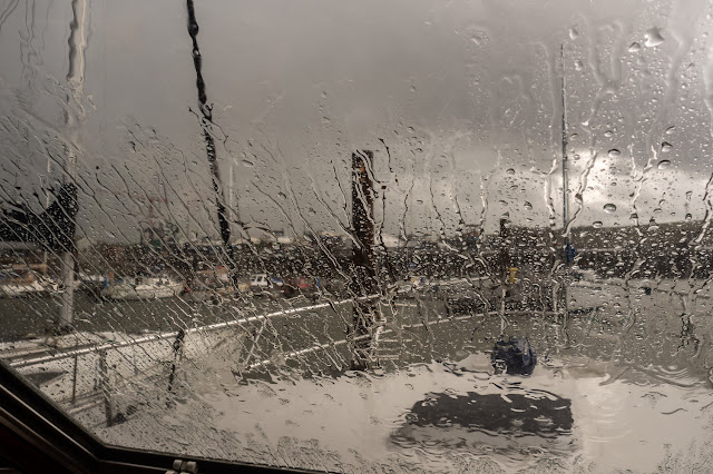 Photo of a torrential downpour on Thursday afternoon