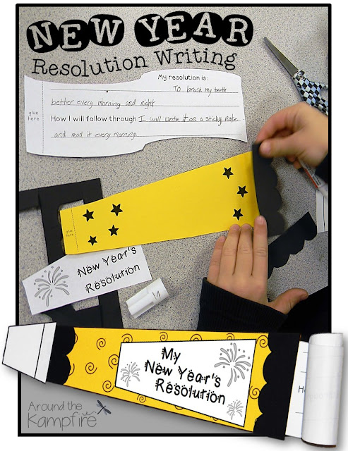 5 Fun New Year's Activities for the Classroom: New Year's resolution writing craft