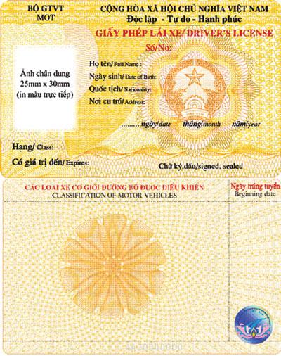 Quy định giấy phép lái xe