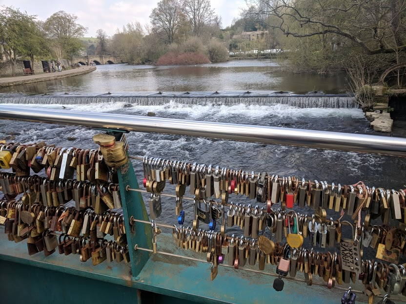 A Review of Darwin Forest & The Peak District with Tweens - love lock bridge in Bakewell