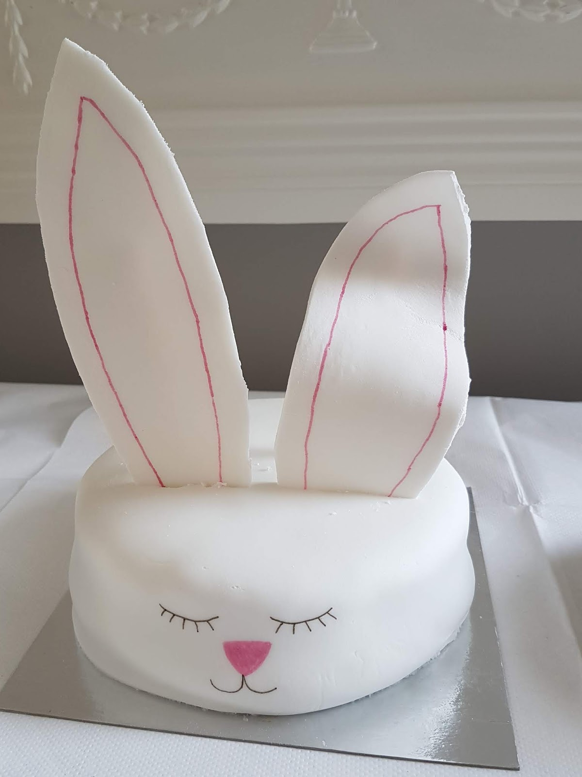 cake in the shape of a bunny head