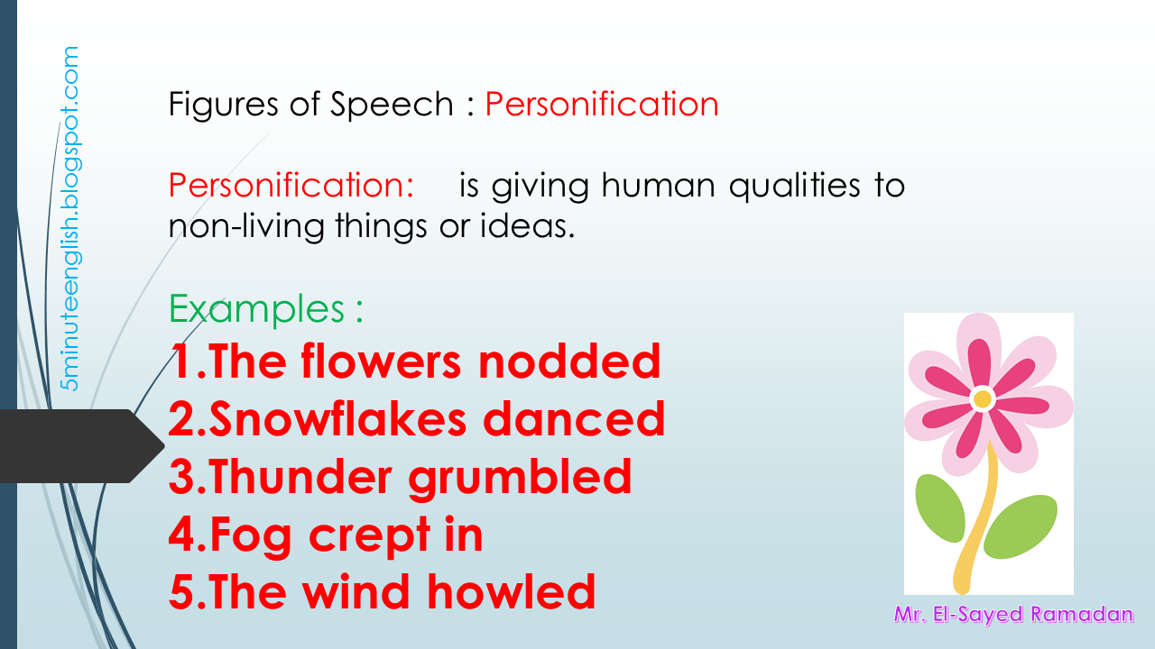 Figures Of Speech Personification