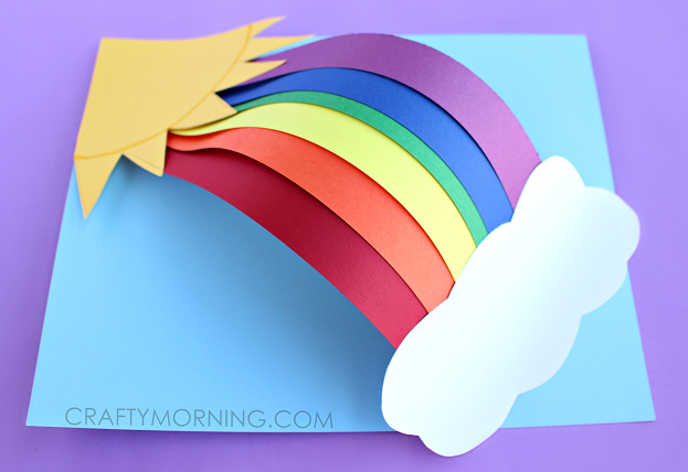 3D Paper Rainbow Craft by Crafty Morning