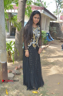 Tamil Actress Shreya Sri Stills in Black Akarkali Dress at Vanga Vanga Team Interview  0023.jpg