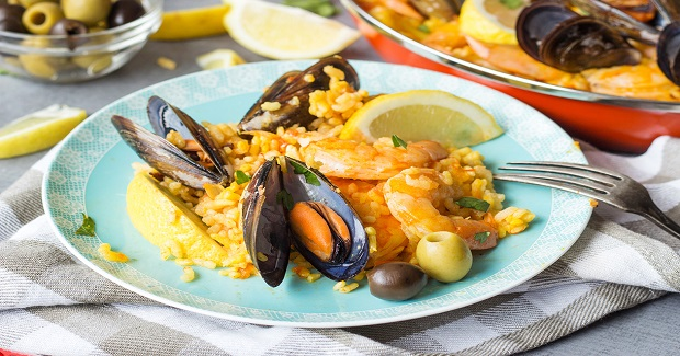 Spanish Seafood Paella Recipe