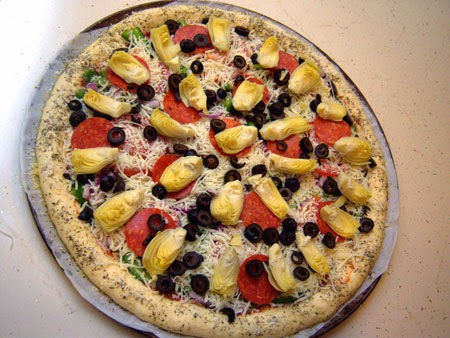 Super Supreme Pizza Recipe assembled