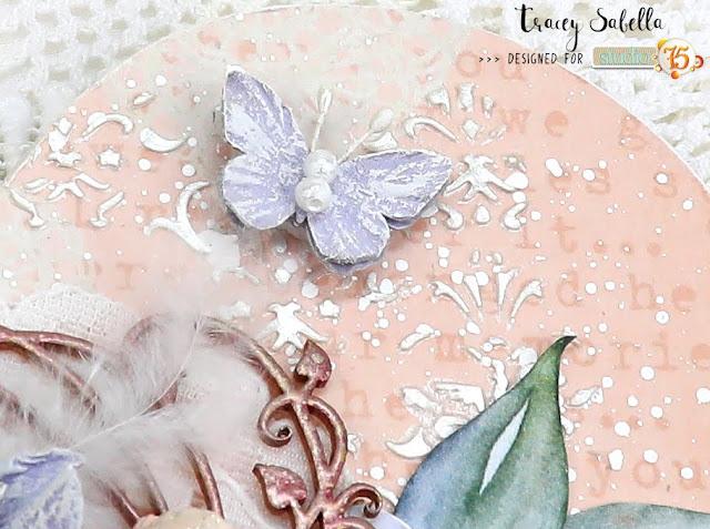 """Heart & Soul"" Mixed Media Heart by Tracey Sabella for Studio75: #traceysabealla #studio75 #littlebirdiecrafts #littlebirdieonline #acmoore #finnabair #finnabairproducts #primamarketing #timholtz #rangerink #stampendous #helmar #prills #scrapbookadhesivesby3l #mixedmedia #mixedmediaart #shabbymixedmedia #shabbychic #shabbychicart #heart #diyheart #homedecor #diyhomedecor #diymixedmedia #diyart"