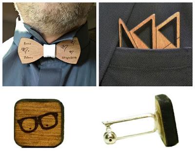 accessori sposo legno
