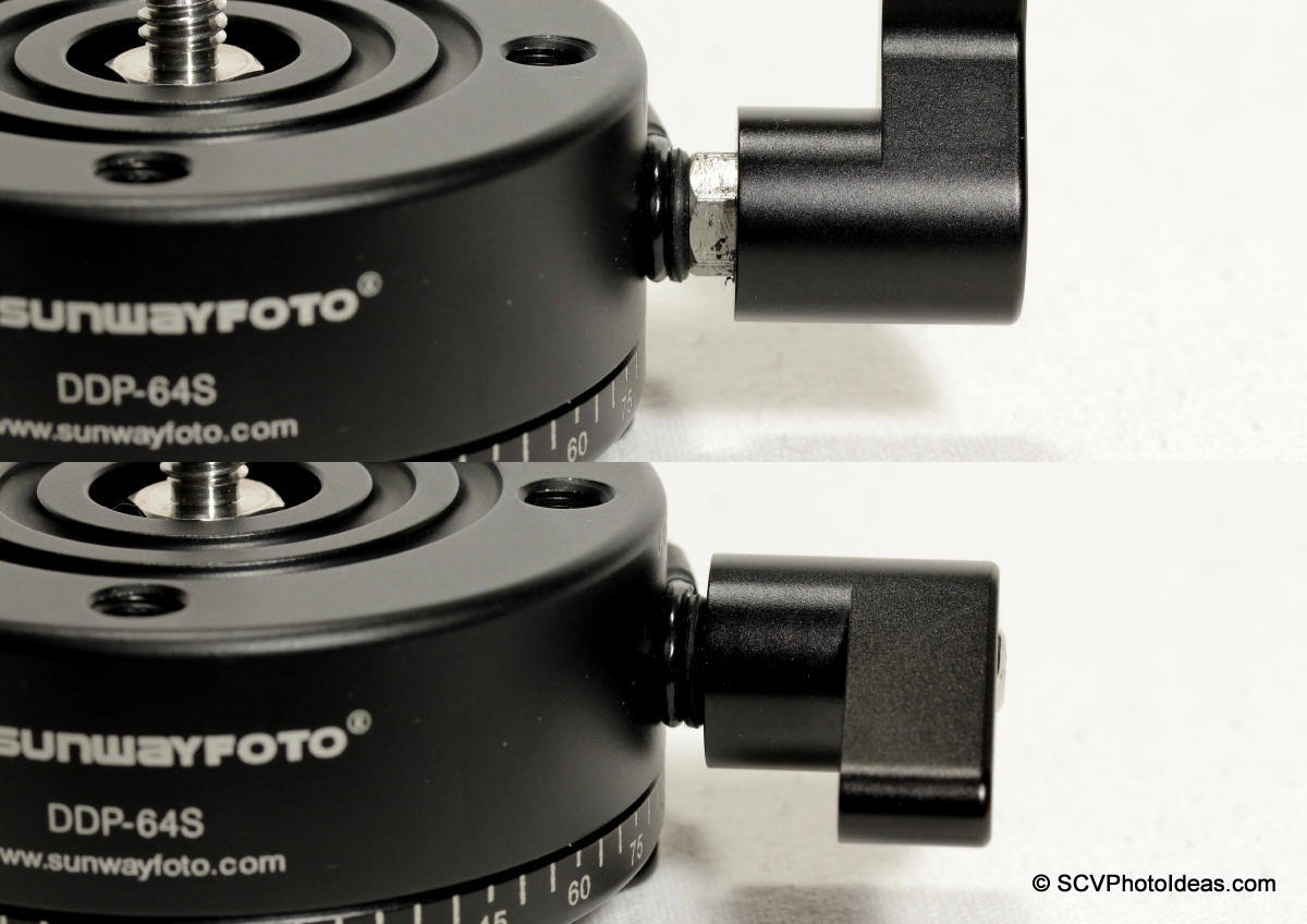 Sunwayfoto DDP-64MX Lever Lock-knob relocation sequence