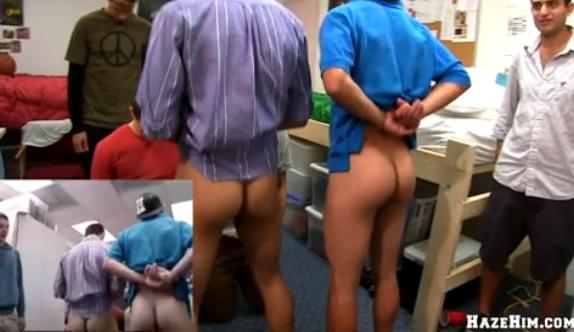 Sexo Gay Forçado - Calouros passando pelo trote sexual da faculdade 2