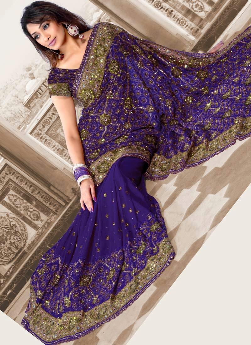 latest indian wedding sarees - photo #13