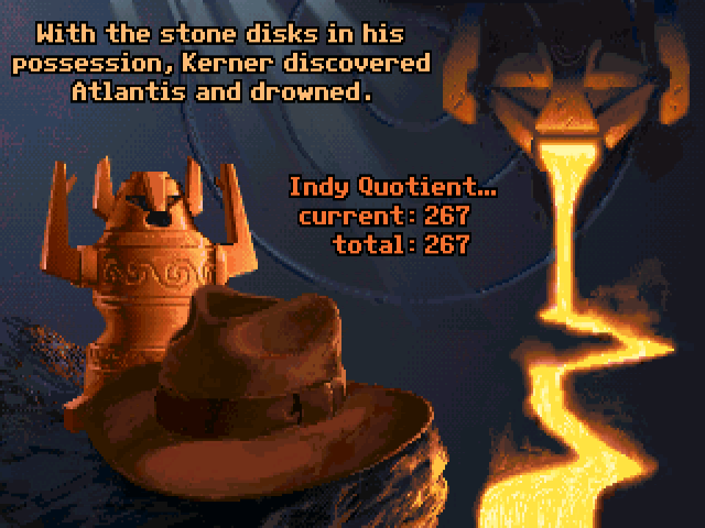 Screenshot from Indiana Jones and the Fate of Atlantis