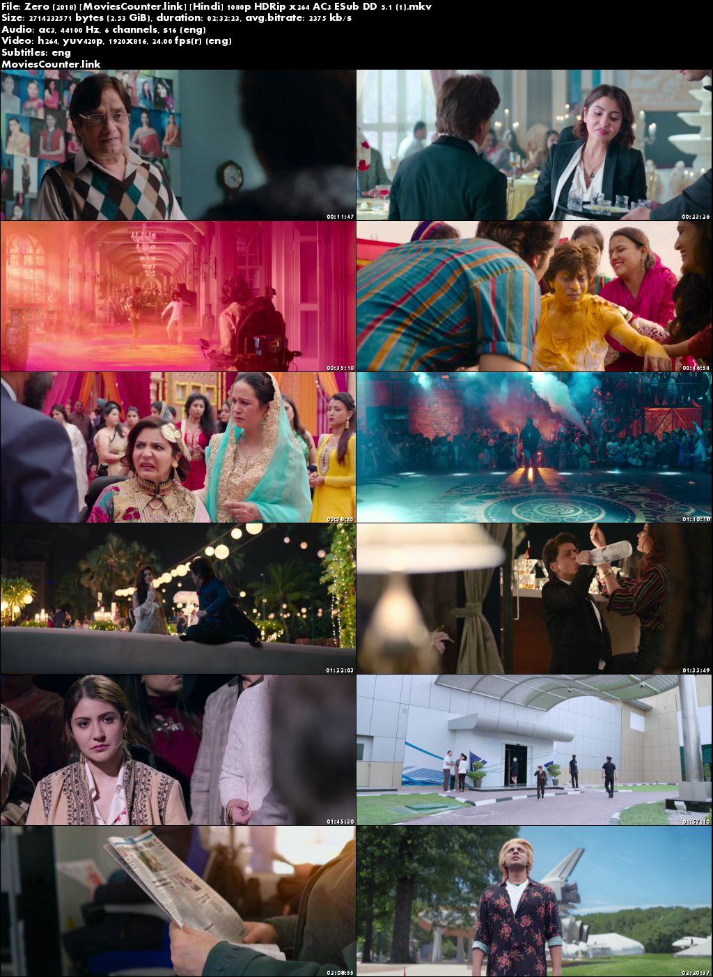Screen Shots Zero 2018 Hindi HD 1080p