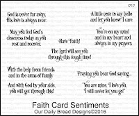 Our Daily Bread designs Faith Card Sentiments