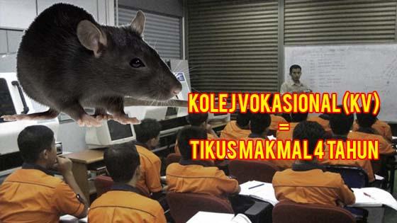 Pelajar Kolej Vokasional Adalah Tikus Makmal. Ini Buktinya.