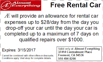 Coupon Free Rental Car February 2017
