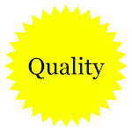 Cramer Imaging's graphic of a yellow seal with quality written on it in black