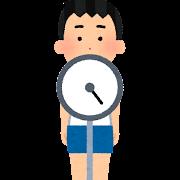 体重測定のイラスト(学校の健康診断・男の子)