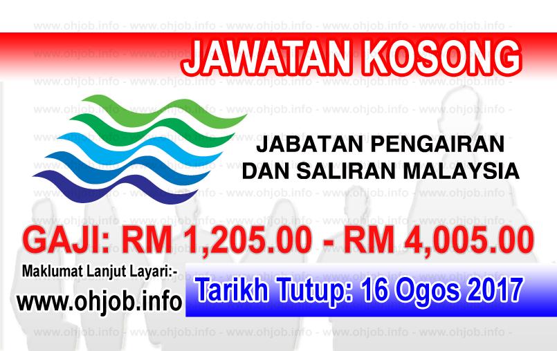 Jawatan Kerja Kosong Jabatan Pengairan dan Saliran - JPS logo www.ohjob.info ogos 2017