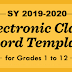 E-Class Record Templates for SY 2019-2020