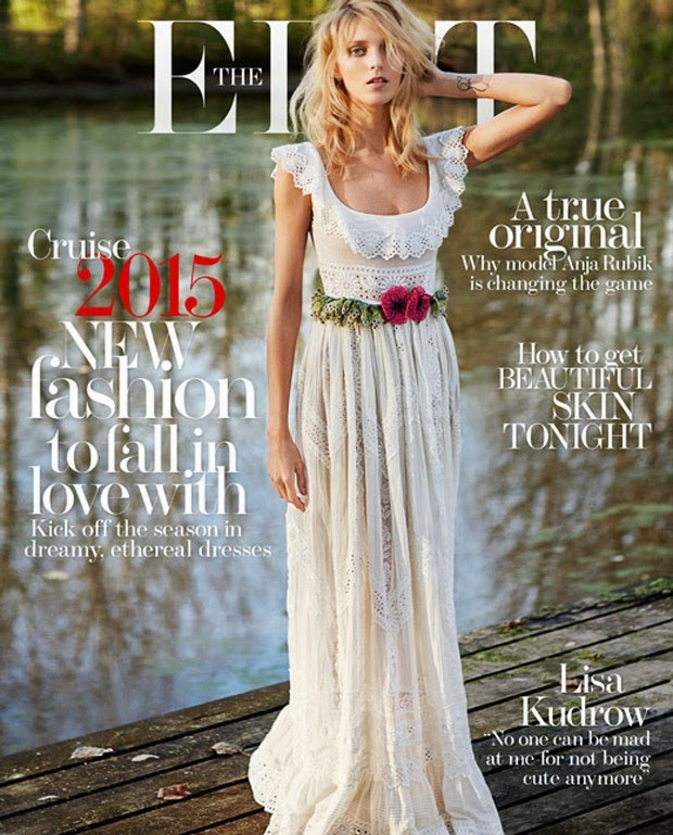 Anja Rubik is ethereal for The Edit by Net-a-Porter's latest issue