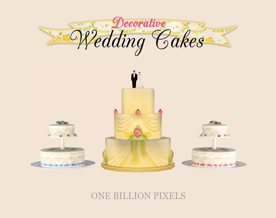 Sims 4 Wedding Cake.Decorative Wedding Cakes One Billion Pixels