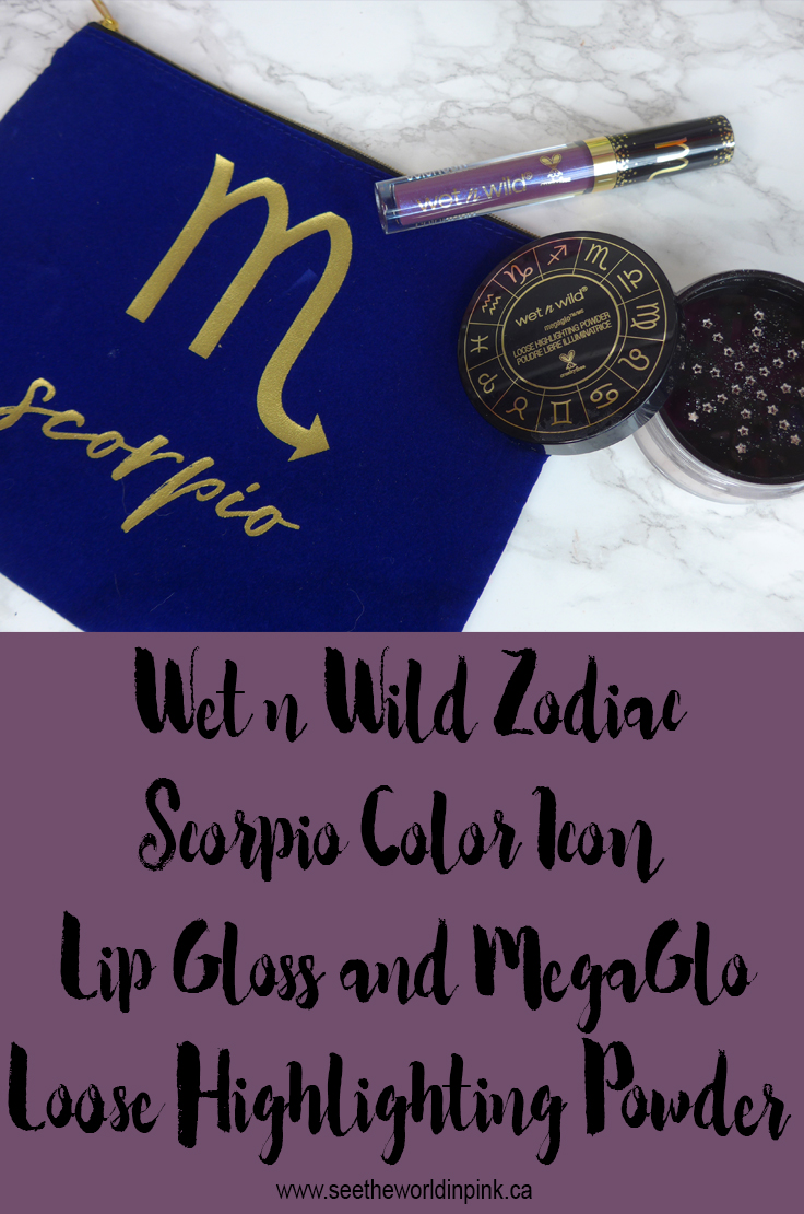 Wet n Wild Zodiac - Scorpio Color Icon Lip Gloss and MegaGlo Loose Highlighting Powder