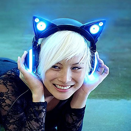 Cat ear light headphones