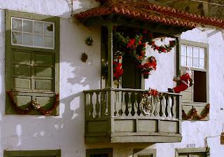 Balcón navideño