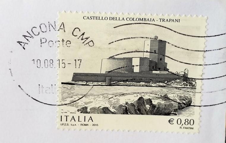 francobollo Castello della Colombaia Trapani
