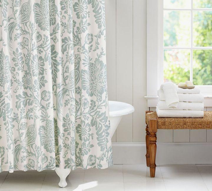 Pottery Barn Arista Palampore Shower Curtain Blue BRAND