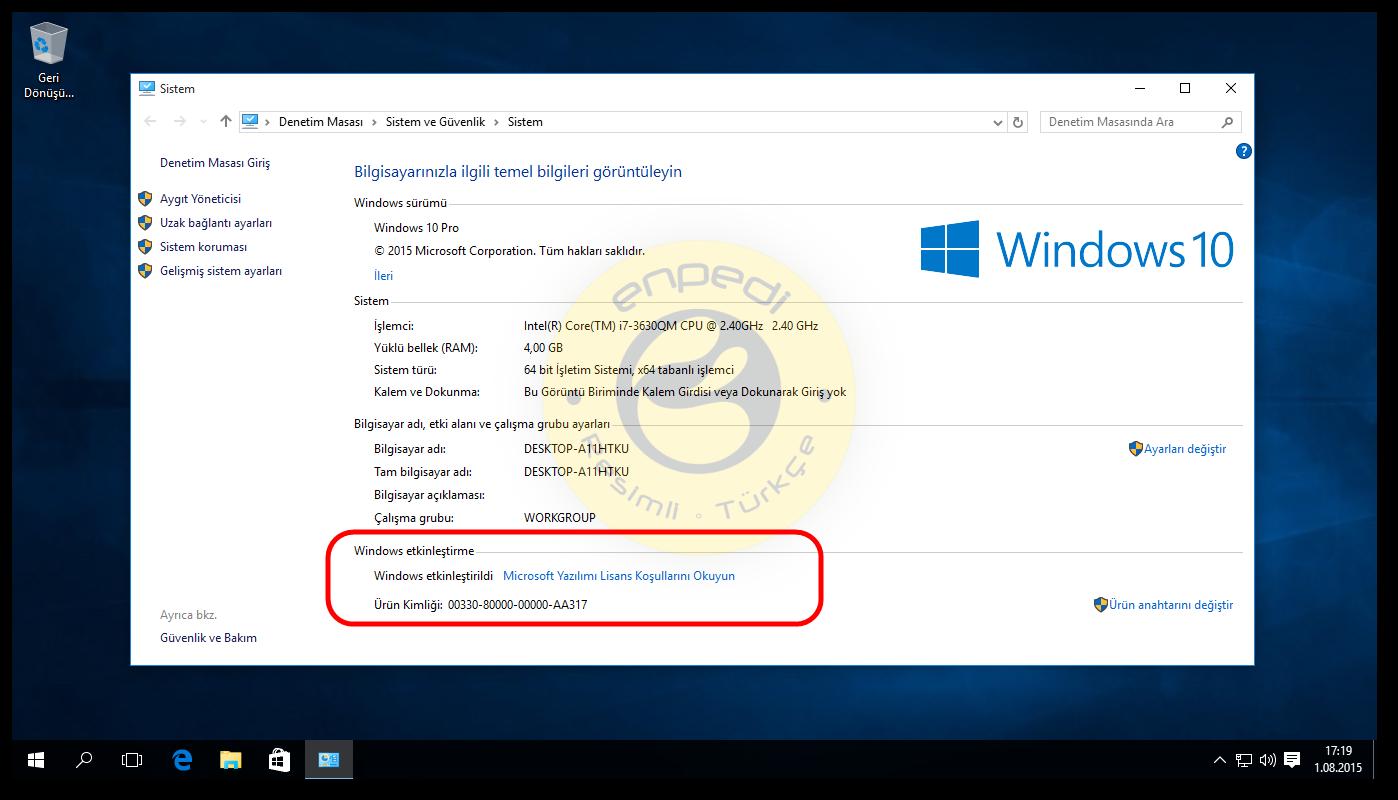 windows 8 windows 10 yükseltme