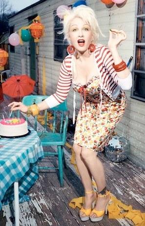 Foto de Cyndi Lauper de cumpleaños