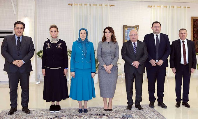 A parliamentary delegation from Albania meets with Maryam Rajavi
