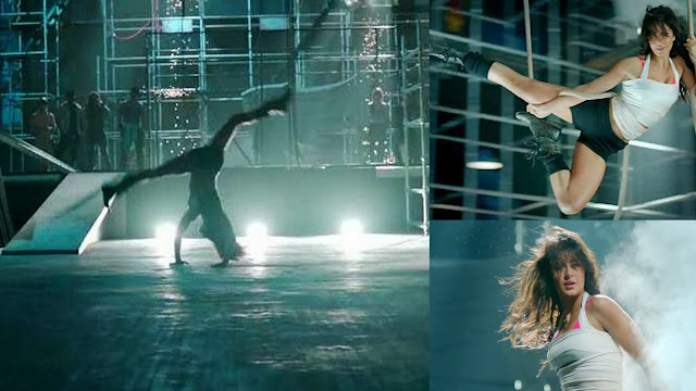 Katrina Kaif doing dance practice of Kamli Kamli songs of Dhoom 3 movie