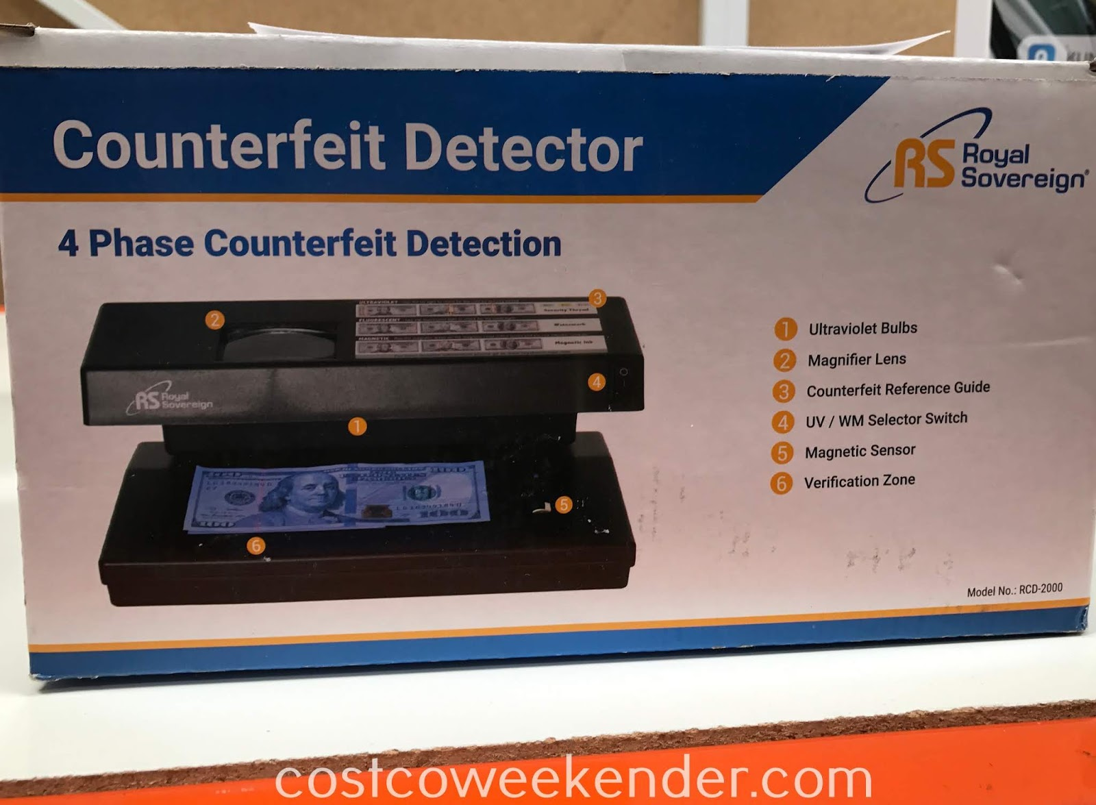 Costco 357450 - Don't get ripped off and have some peace of mind with the Royal Sovereign Counterfeit Detector