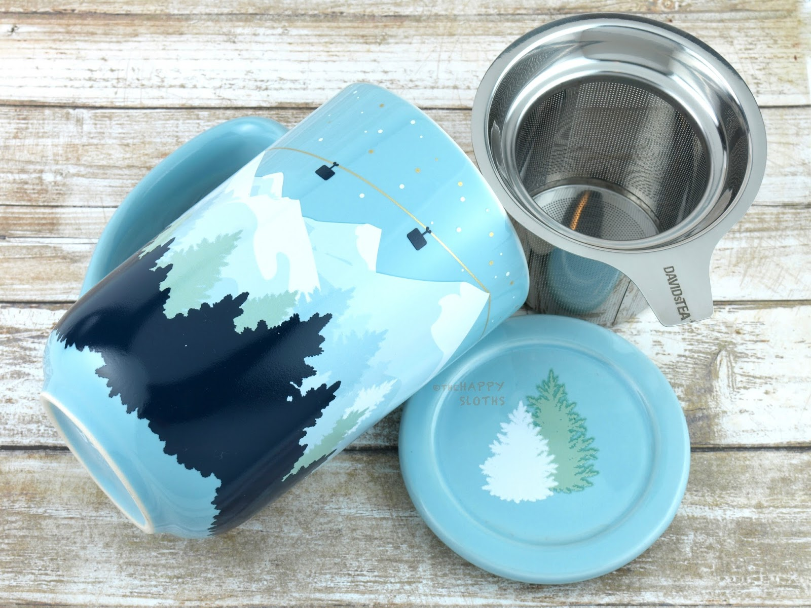 DAVIDsTEA Snowy Mountain Colour Changing Nordic Mug
