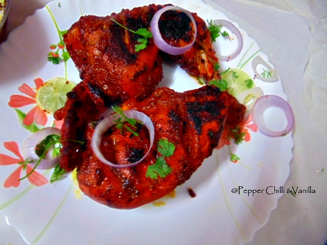 tandoori chicken recipe restaurant style,easy tandoori chicken recipe,tandoori chicken pepper chilli and vanilla