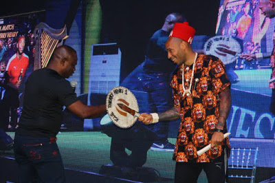 Photos : Thierry Henry visits Lagos & Crowned As 'Igwe Of Football'
