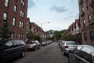 Looking west down Chester Court from Flatbush Avenue